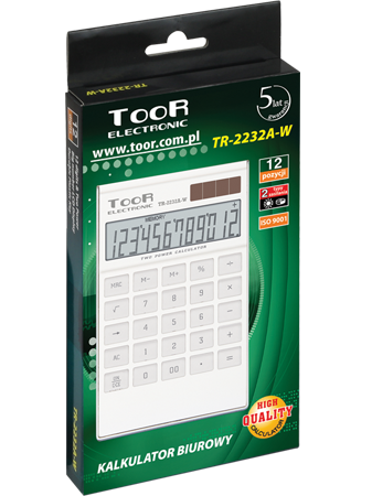 Desk calculator TOOR TR-2232A-W