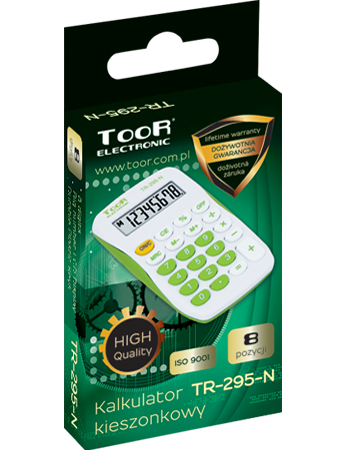 Pocket calculator TOOR TR-295N